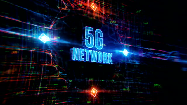5g network technology background - wireless technology stock videos & royalty-free footage