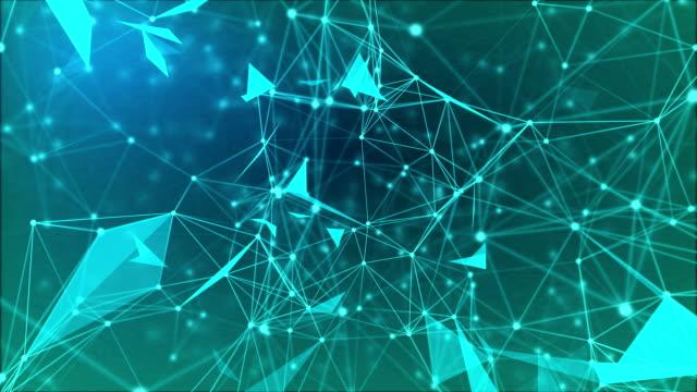 ネットワーク-3 と深い青 - ボトルオープナー点の映像素材/bロール
