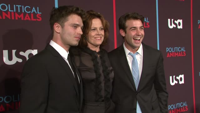 networks world premiere of 'political animals' at the morgan library & museum on june 25, 2012 in new york, new york - イベントまとめ動画点の映像素材/bロール