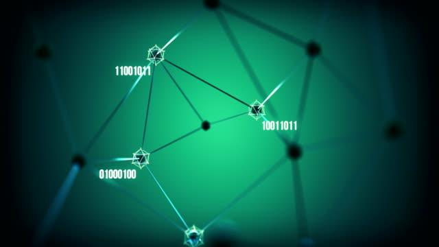 neural network / artificial intelligence (green) - loop - axon stock videos & royalty-free footage