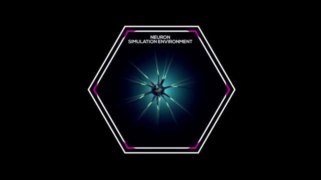 vídeos de stock e filmes b-roll de neuron 3d abstract art animation - estrutura da célula