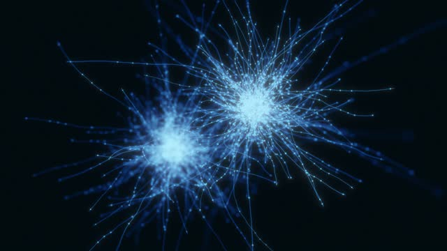neuron system hologram - microbiology stock videos & royalty-free footage