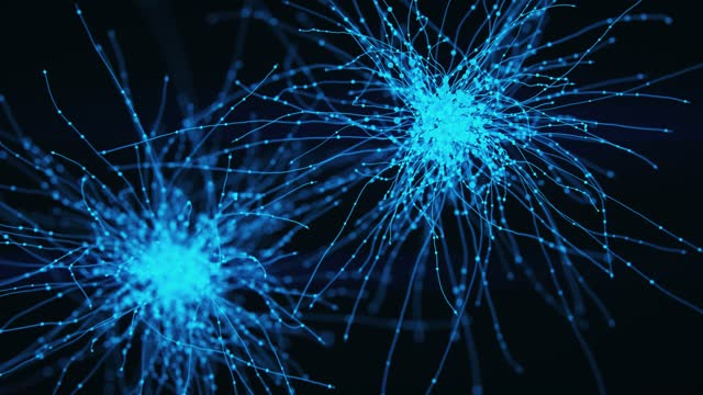 neuron system hologram - dendrite stock videos & royalty-free footage