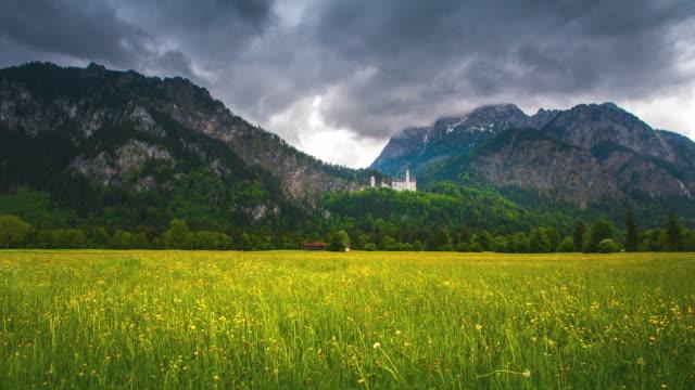neuschwanstein castle - hill stock videos & royalty-free footage