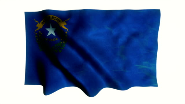 nevada flag waving animation - hoisting stock videos & royalty-free footage