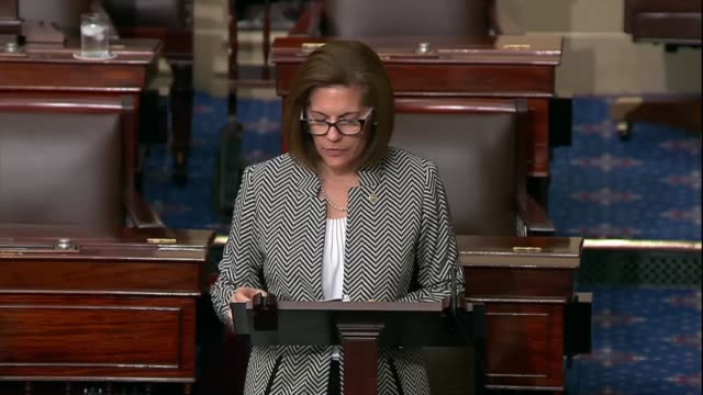 nevada senator catherine cortez masto commemorates a terrible tragedy on a solemn day in her hometown of las vegas where thousands gathered for the... - united states senate stock videos & royalty-free footage