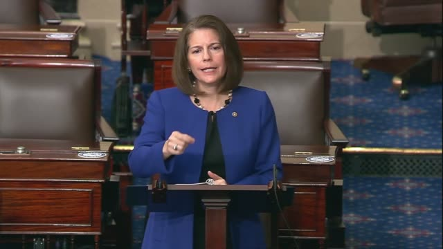 nevada senator catherine cortez masto says in senate floor remarks after negotiations on the heals act coronavirus economic relief bill stalled... - paying rent stock videos & royalty-free footage