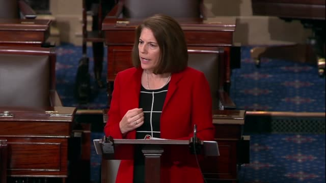 nevada senator catherine cortez masto says unfortunately senator mitch mcconnell had called himself the grim reaper whose job it was to bury... - short phrase stock videos and b-roll footage