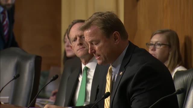 vídeos de stock e filmes b-roll de nevada senator dean heller says at a hearing of the senate finance committee on the healthcare bill cosponsored by louisiana senator bill cassidy... - maryland estado