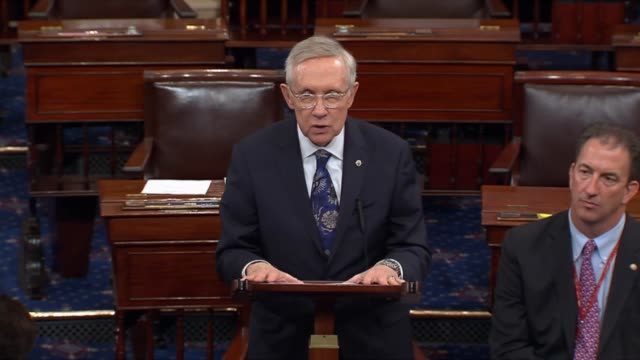 nevada senator harry reid criticizes senate republicans as unable to muster the votes to defund planned parenthood, calls effort to do so foolish. - republican party stock videos & royalty-free footage