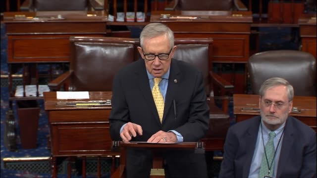 nevada senator harry reid remarks on the anniversary of the oklahoma city bombing that the federal investigation and prosecution led by merrick... - senator stock videos & royalty-free footage