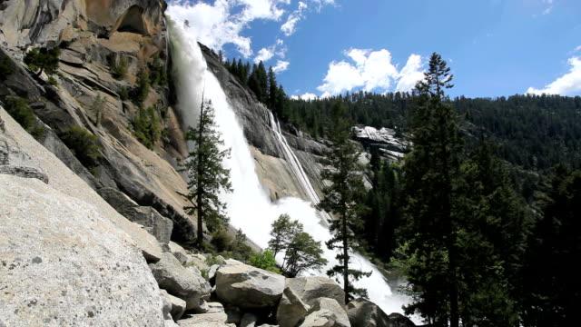 """nevada waterfalls, california, usa"" - yosemite national park stock videos and b-roll footage"