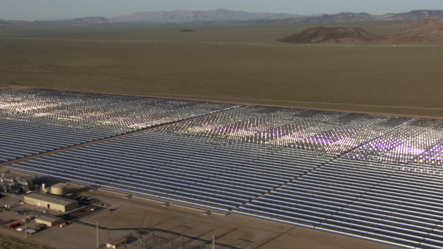 nevada's solar one power plant converts sunshine to electricity. - clark county nevada stock videos and b-roll footage