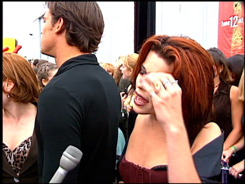 neve campbell at the 1997 mtv movie awards at barker hanger in santa monica california on june 7 1997 - neve campbell stock videos and b-roll footage