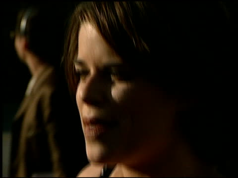 neve campbell at the 1998 mtv movie awards entrances at barker hanger in santa monica california on may 30 1998 - neve campbell stock videos and b-roll footage
