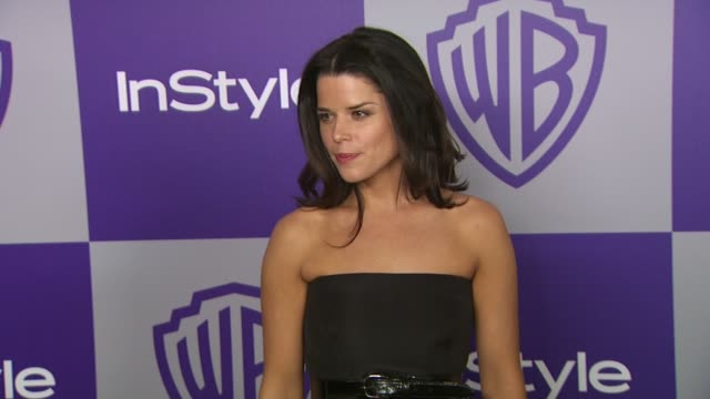 vídeos de stock e filmes b-roll de neve campbell at the warner bros and instyle golden globe afterparty at beverly hills ca - neve campbell