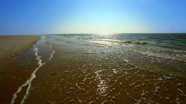 never ending beach from amrum in germany - north sea stock videos & royalty-free footage