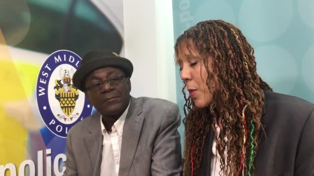 neville and christine sugary staple appeal for information on the fatal stabbing of their 21-year-old grandson fidel glasgow. west midlands detective... - コベントリー点の映像素材/bロール