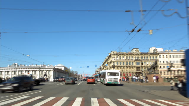 t/l pov nevsky prospekt 1 - russian culture stock videos & royalty-free footage