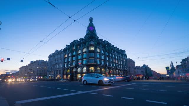 nevsky prospekt, saint-petersburg, russia - st. petersburg russia stock videos & royalty-free footage