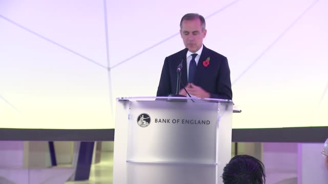 Mark Carney press conference ENGLAND London Kensington Science Museum INT Mark Carney press conference SOT re new fifty pound note