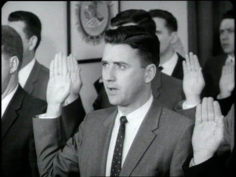 new agents swear in at the federal bureau of investigations. - fbi video stock e b–roll