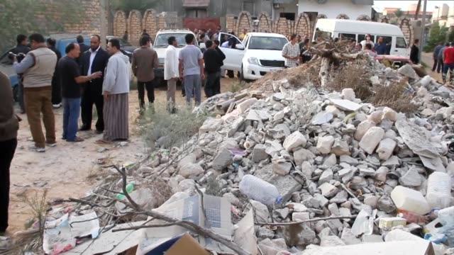 new air strike hit the libyan capitals sole operational airport on tuesday a day after a raid claimed by forces loyal to a prominent anti islamist... - air raid video stock e b–roll