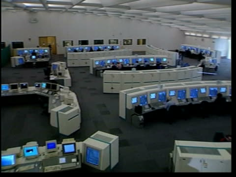 new air traffic control centre opens; hampshire: swanwick: ext sign for 'air traffic control centre' int tgv interior of new air traffic control... - on air sign stock videos & royalty-free footage