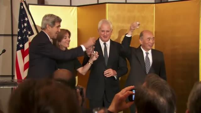 new ambassador caroline kennedy statement - john kerry - tea ceremony the japanese embassy in washington dc on november 12, 2013 for an event... - ambassador stock videos & royalty-free footage