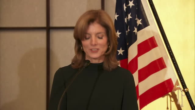 new ambassador caroline kennedy statement - john kerry - tea ceremony the japanese embassy in washington dc on november 12, 2013 for an event... - produced segment stock videos & royalty-free footage