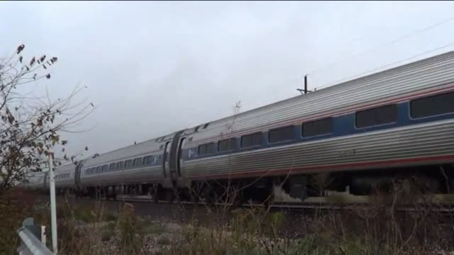 A new Amtrak train that travels between Chicago and St Louis can now hit 111 mph over a 15 mile stretch on October 19 2012 in Chicago Illinois Ray...