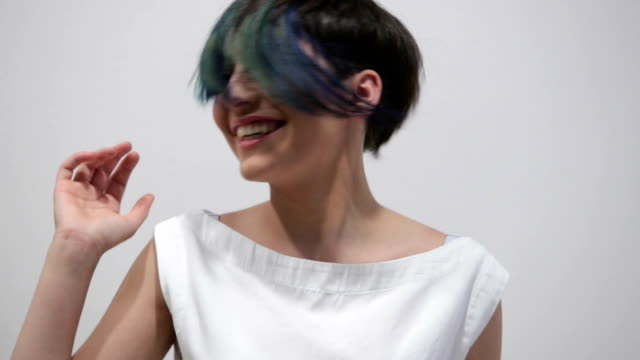 new and fresh hairstyle - highlights hair stock videos & royalty-free footage