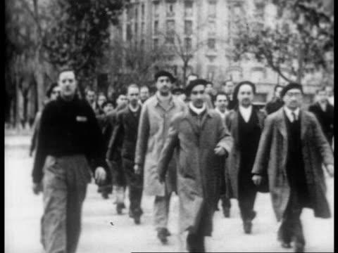 new antifascist volunteers practice marching in formation - anti fascism stock videos & royalty-free footage