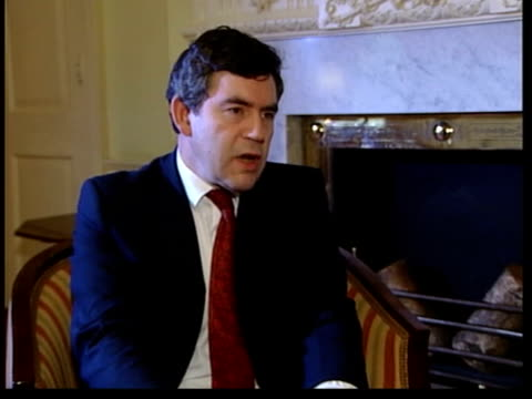 Downing Street Number 11 Gordon Brown MP interview SOT Those who finance terrorism are as guilty as those people who practice it