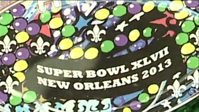 wgno new beads created for super bowl xlvii on february 03 2013 in new orleans louisiana - super bowl stock videos & royalty-free footage