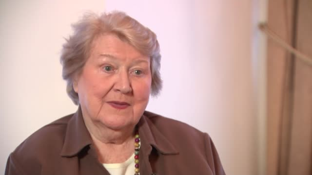 patricia routledge interview england london int patricia routledge interview sot - patricia routledge stock videos & royalty-free footage