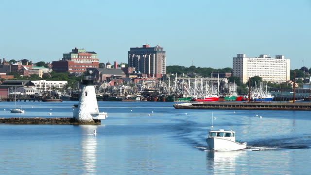 new bedford harbor - new england usa stock videos & royalty-free footage