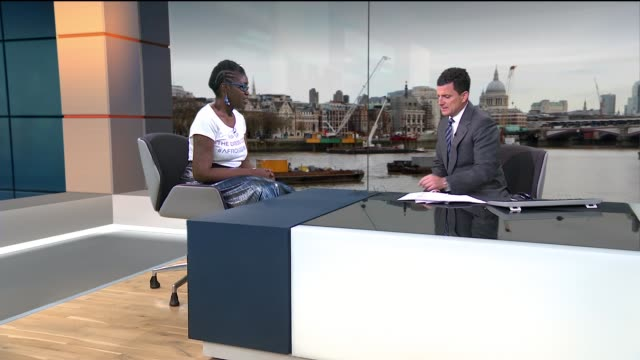 New billboard campaign being launched to challenge the notion that Afro hair is 'unprofessional' ENGLAND London GIR INT Lekia Lee LIVE STUDIO...