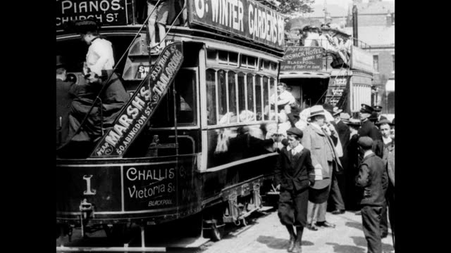 new blackpool lytham tramway 1903 - edwardian style stock videos & royalty-free footage
