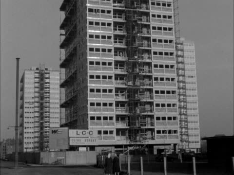 new blocks of flats are being constructed in the east end of london - office block exterior stock videos & royalty-free footage