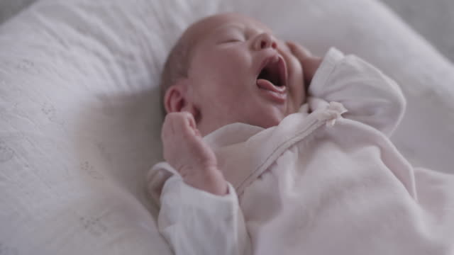 new born baby - one baby girl only stock videos & royalty-free footage