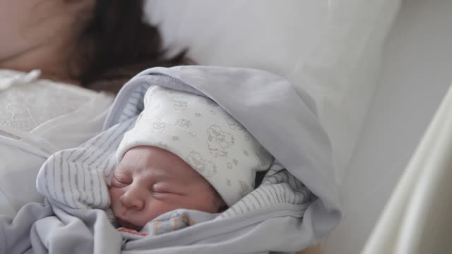 new born baby with his mother - labor childbirth stock videos and b-roll footage