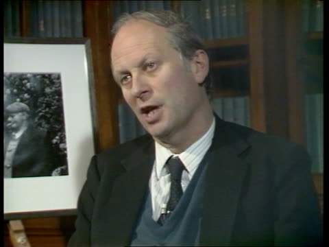 new british library richard luce mp arts minister interview model cost of two approved blocks - luce stock videos & royalty-free footage