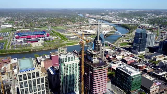 new building constructed in downtown nashville tennessee - nashville stock videos & royalty-free footage