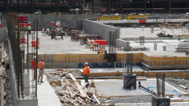 stockvideo's en b-roll-footage met new building is under construction in new jersey, usa - new jersey