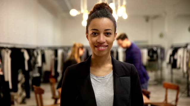 new business employee of a clothing store - boutique stock videos & royalty-free footage