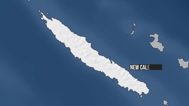 new caledonia map zoom - french overseas territory stock videos & royalty-free footage