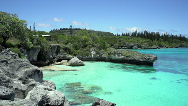 new caledonia tadine bay mare island loyalty islands 4k video - south pacific ocean stock videos & royalty-free footage
