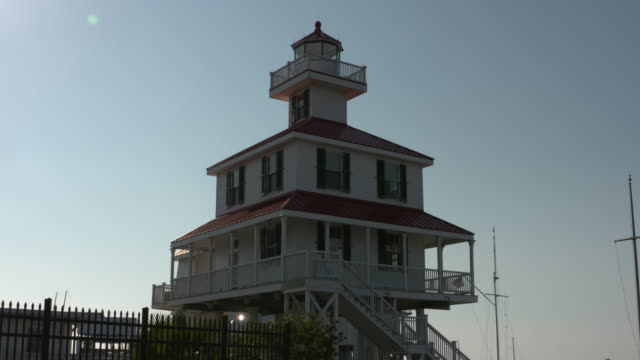 New Canal Lighthouse Lake Pontchartrain in New Orleans Louisiana USA on Thursday May 9 2019