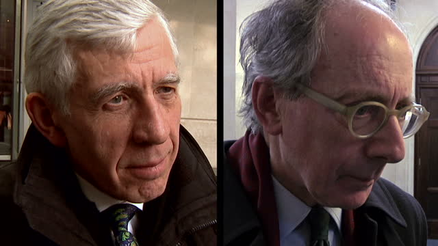 a new cash for access scandal has claimed two of its most senior victims former foreign secretaries jack straw and sir malcolm rifkind showing... - vox populi stock videos and b-roll footage